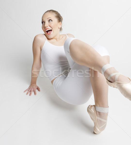 Stockfoto: Balletdanser · vrouwen · ballet · jonge · opleiding · witte