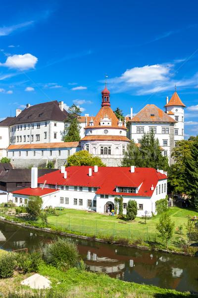 Kastély palota Csehország épület utazás folyó Stock fotó © phbcz