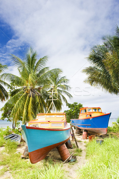 fishing boats, Six Men's Bay, Barbados Stock photo © phbcz