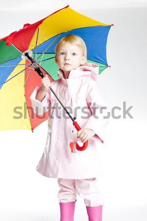 Kislány esernyő lány divat gyermek rózsaszín Stock fotó © phbcz