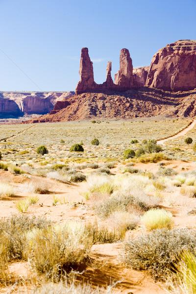 The Three Sisters, Monument Valley National Park, Utah-Arizona,  Stock photo © phbcz