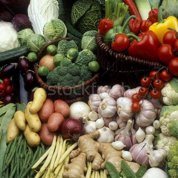 Zöldségek csendélet étel egészség belső zöldség Stock fotó © phbcz
