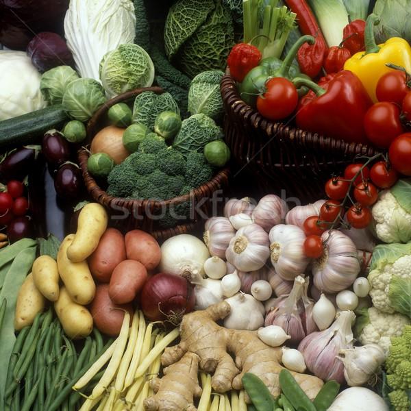 Hortalizas naturaleza muerta alimentos salud interior vegetales Foto stock © phbcz