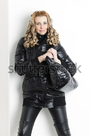 portrait woman wearing latex clothes Stock photo © phbcz