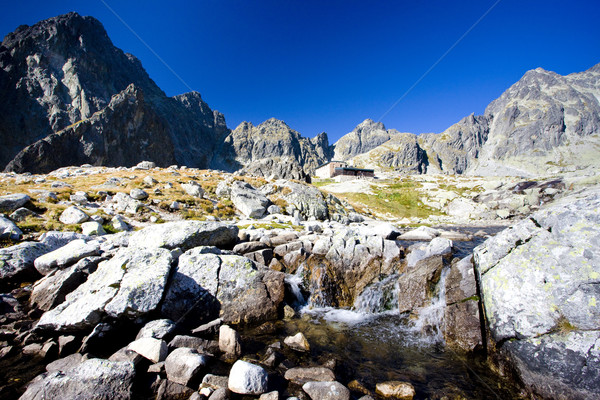 Small Cold Valley and Teryho Cottage at background, Vysoke Tatry Stock photo © phbcz
