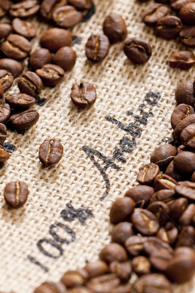 still life of coffee beans Stock photo © phbcz