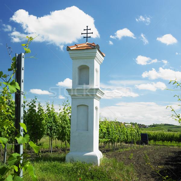 Village chapelle République tchèque église vigne vignoble Photo stock © phbcz