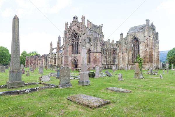 Zdjęcia stock: Ruiny · opactwo · Szkocji · budynku · architektury