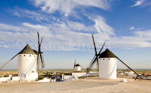 İspanya fırıldak değirmen açık dışında işaret Stok fotoğraf © phbcz