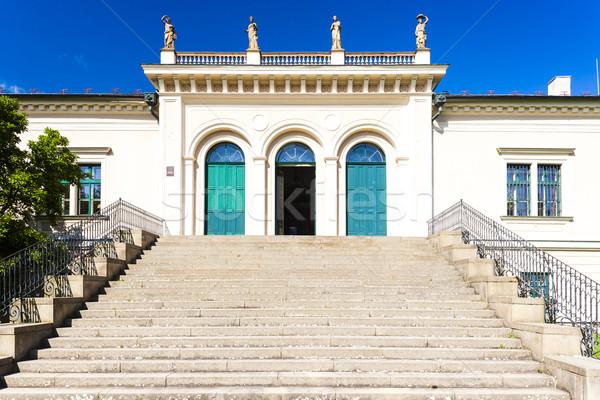 Hüvely palota Csehország épület utazás építészet Stock fotó © phbcz