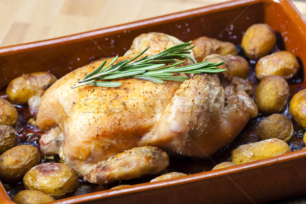 Сток-фото: куриные · картофель · пластина · еды · блюдо