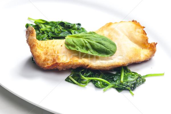 Truite bière poissons plaque légumes repas Photo stock © phbcz
