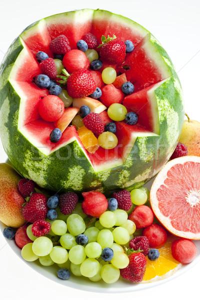 フルーツサラダ 水 メロン 食品 フルーツ イチゴ ストックフォト © phbcz