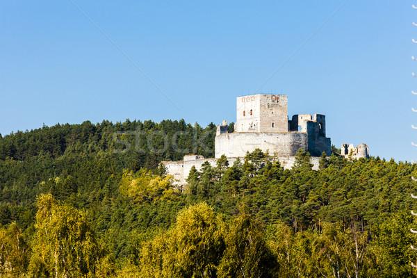 Romok kastély Csehország utazás építészet kint Stock fotó © phbcz