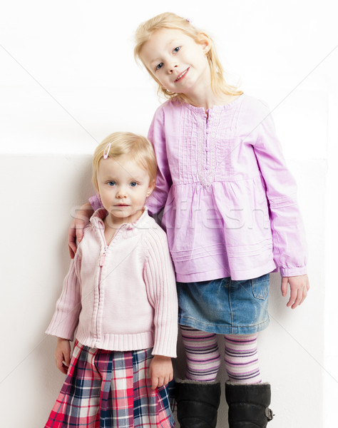 Dziewczyna moda dziecko różowy Zdjęcia stock © phbcz