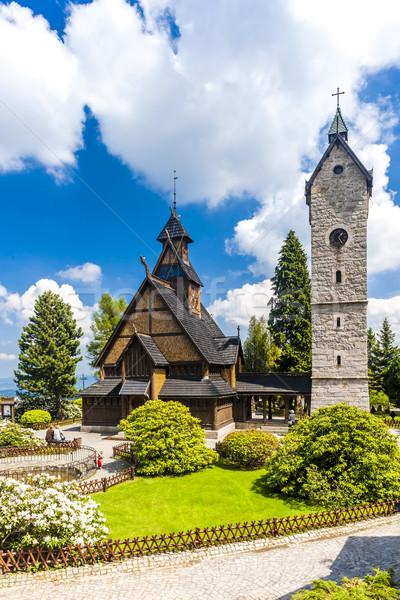 Igreja Polônia arquitetura torre ao ar livre fora Foto stock © phbcz