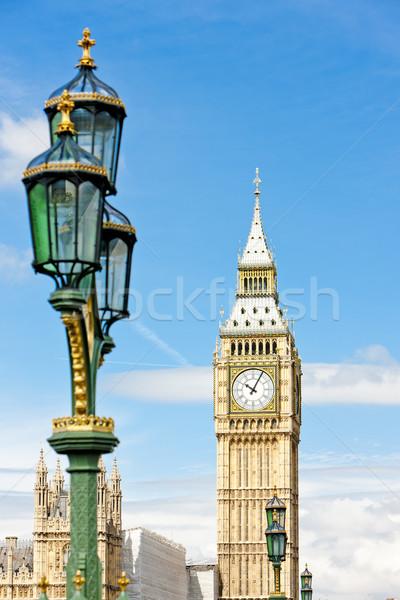 Big Ben Londres grã-bretanha cidade lâmpada arquitetura Foto stock © phbcz