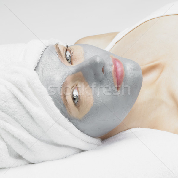 Stock photo: woman with facial mask