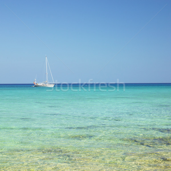 yacht, Caribbean Sea, Maria la Gorda, Cuba Stock photo © phbcz