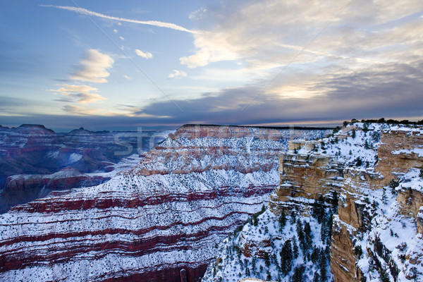 Grand Canyon National Park in winter, Arizona, USA Stock photo © phbcz