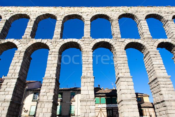 Roman aqueduct, Segovia, Castile and Leon, Spain Stock photo © phbcz
