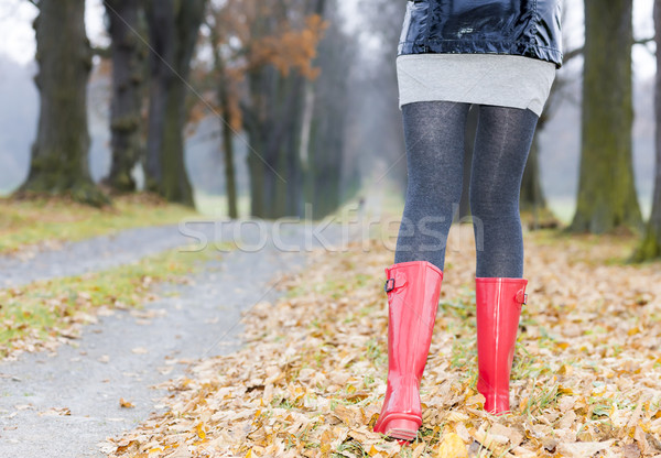 detail of woman wearing rubber boots Stock photo © phbcz