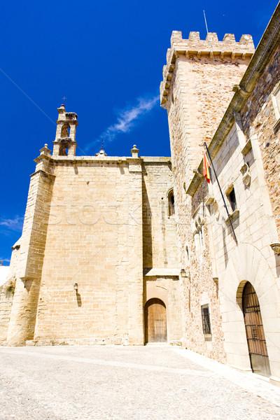 Palace of Ovando (Palacio de las Ciguenas), Plaza de Santa Maria Stock photo © phbcz