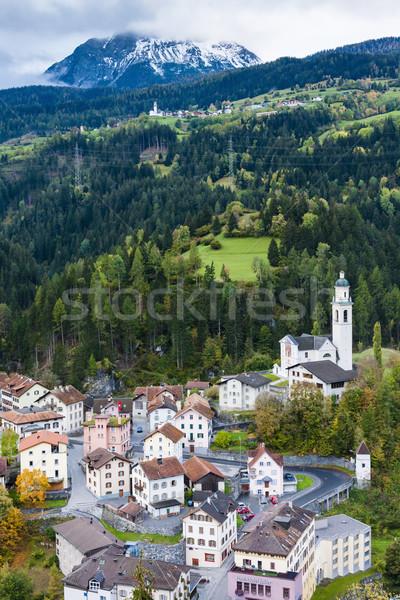 Tiefencastel, canton Graubunden, Switzerland Stock photo © phbcz