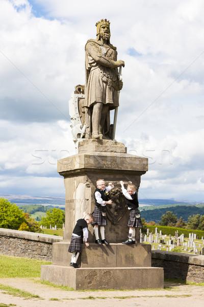 Standbeeld Schotland kind reizen jongen Europa Stockfoto © phbcz