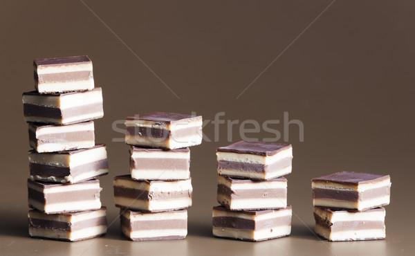 nougat chocolate candies Stock photo © phbcz