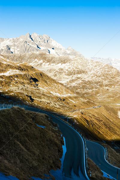 view from Furkapass, canton Graubunden, Switzerland Stock photo © phbcz