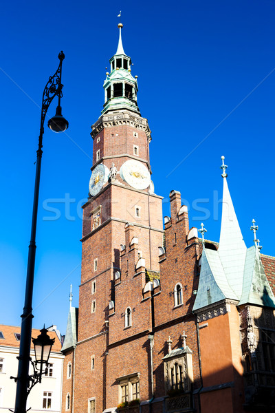 Stock photo: Town Hall on Main Market Square, Wroclaw, Silesia, Poland