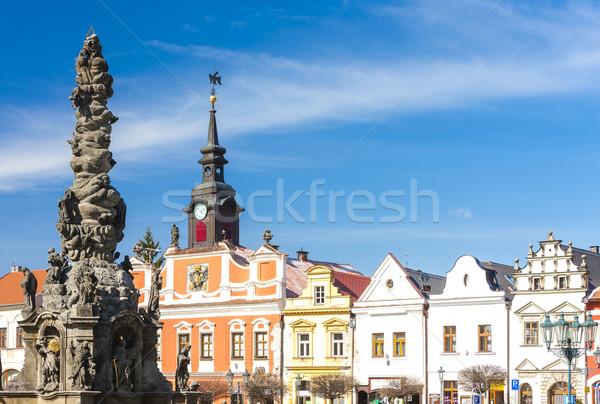 ストックフォト: 広場 · チェコ共和国 · 建物 · アーキテクチャ · ヨーロッパ · 列