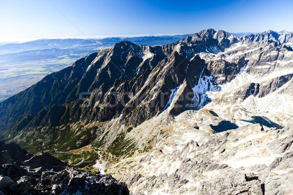 Ver alto Eslováquia paisagem europa Foto stock © phbcz