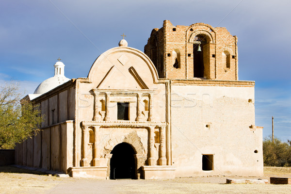 Arizona USA kerk architectuur geschiedenis missie Stockfoto © phbcz