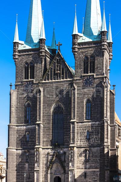 Kerk onderstelling vierkante tsjechisch Tsjechische Republiek gebouw Stockfoto © phbcz
