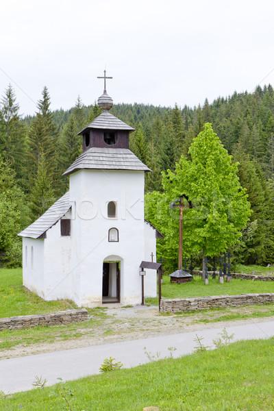 Stock fotó: Templom · múzeum · falu · Szlovákia · épület