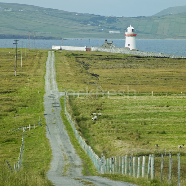 Farol península Irlanda estrada edifício Foto stock © phbcz