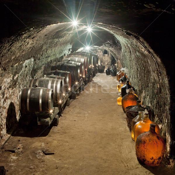 wine cellar, Vrba Winery, Vrbovec, Czech Republic Stock photo © phbcz