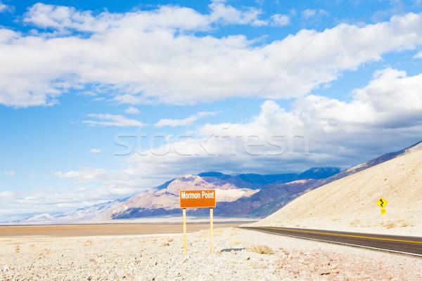 Mormon Point, Death Valley National Park, California, USA Stock photo © phbcz