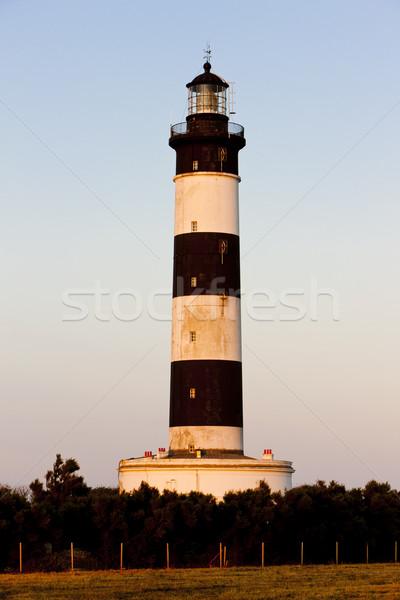 Chassiron Lighthouse, Poitou-Charentes, France Stock photo © phbcz