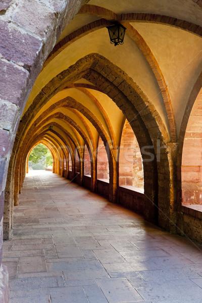 interior of Nuestra Senora de Valvanera Monastery, La Rioja, Spa Stock photo © phbcz