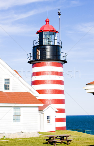West Quoddy Head Lighthouse, Maine, USA Stock photo © phbcz