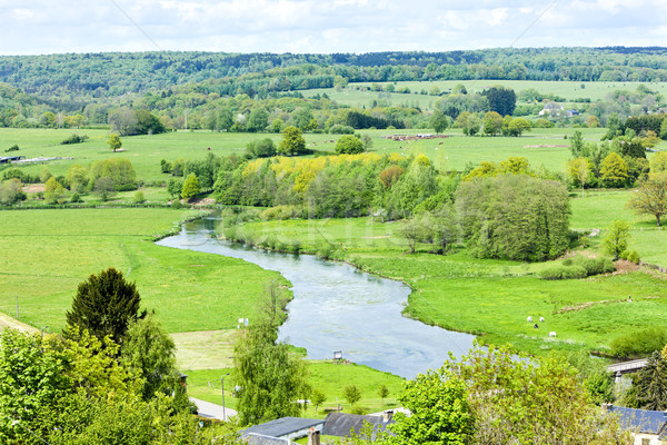 spring landscape of Walloon, Belgium Stock photo © phbcz