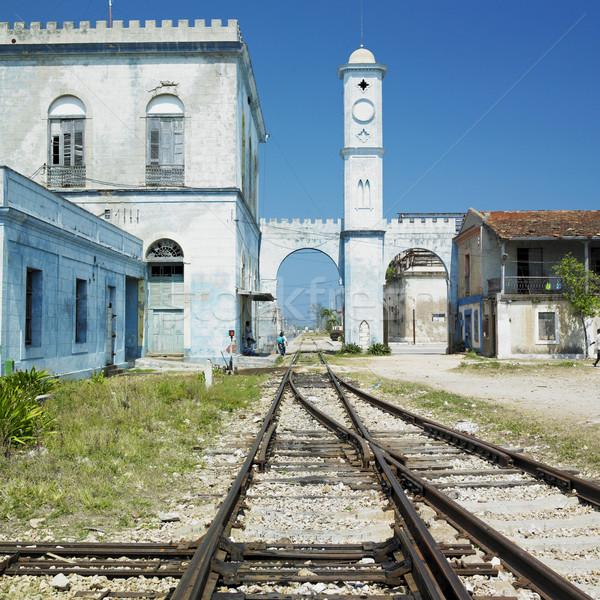 Estação de trem viajar arquitetura transporte seguir linha Foto stock © phbcz