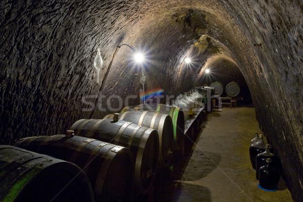 wine cellar, Chvalovice, Czech Republic Stock photo © phbcz