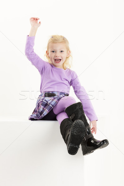 сидят девочку юбка девушки ребенка Сток-фото © phbcz