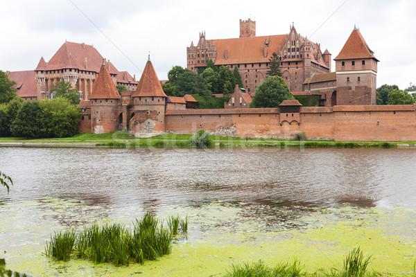 Polen gebouw reizen rivier architectuur Europa Stockfoto © phbcz