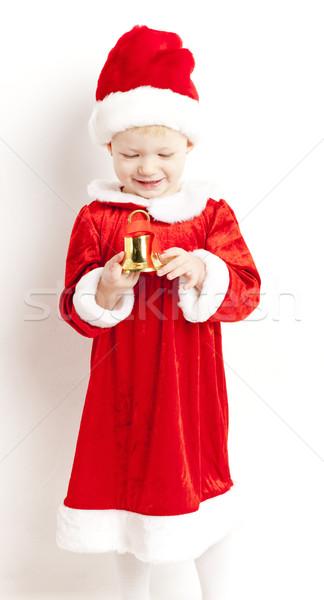 Kleines Mädchen Glocke Mädchen Kinder Kind Stock foto © phbcz