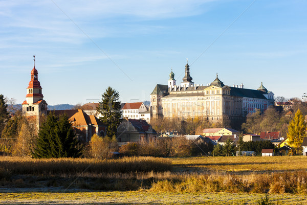 benedictine monastery in Broumov, Czech Republic Stock photo © phbcz
